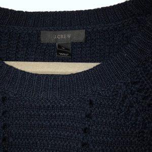 Navy blue JCrew crocheted sweater